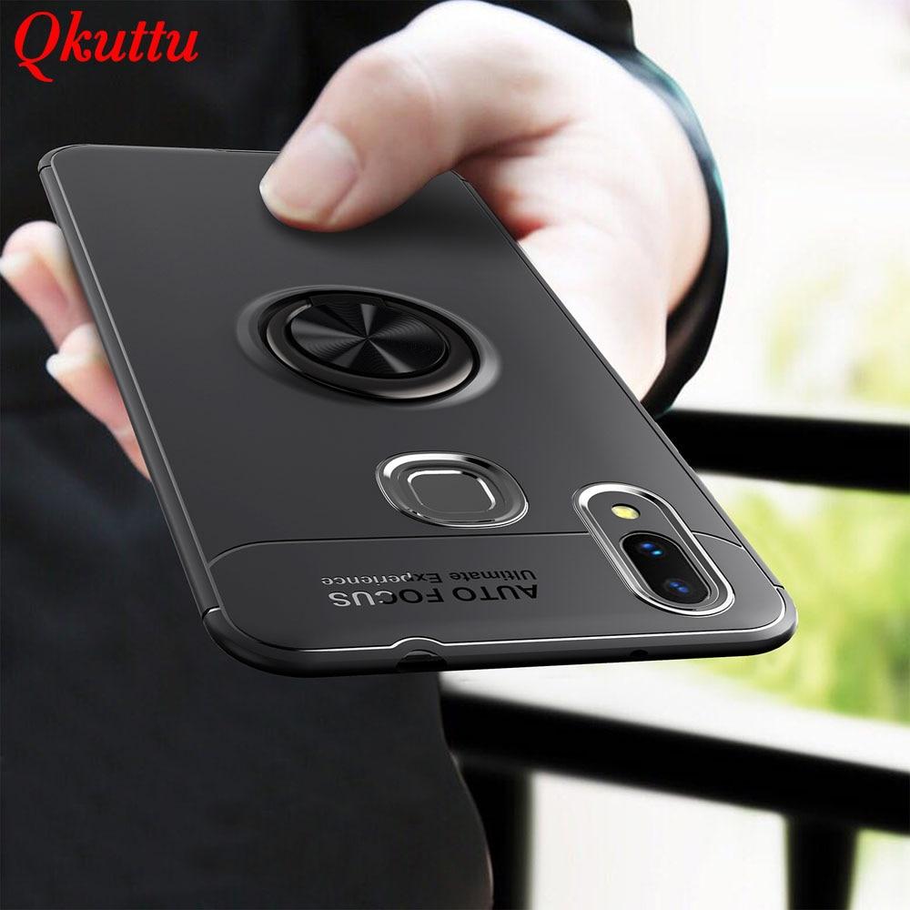 Qkuttu Phone Case for Huawei Nova 3 Car Finger Ring Magnetic Holder Soft Silicone Back Cover for Huawei Nova3 Nova 3 Accessories