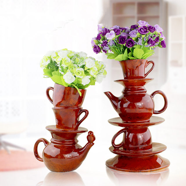 Online Shop Resin Handmade Colorful Creative Special Teapot Cup In
