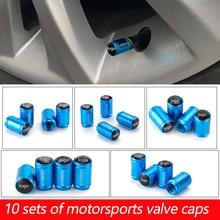 10 комплектов металлических автомобильных клапанные автозапчасти колпачок клапана шины Знак логотипа автомобиля декоративная крышка клапана шины