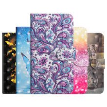 Butterfly PU Leather Flip Case For LG Q Stylo 4 Case Mobile