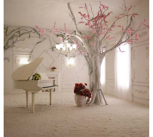 10x10ft Antique White Room Pink Flowers Branch Piano Sunshine Window Custom Backdrop Photo Studio Background Vinyl 8x8 10x12 In From Consumer