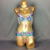 New Arrival Women S Beaded Belly Dance Costume Wear Bar Belt 2piece Setl Adies Belly Dance