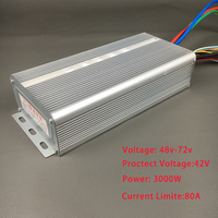 42V 72V 3000W BLDC Controller Brushless Motor Speed Controller With Sensor Hall For E bike Electric Bike Scooter Accessories