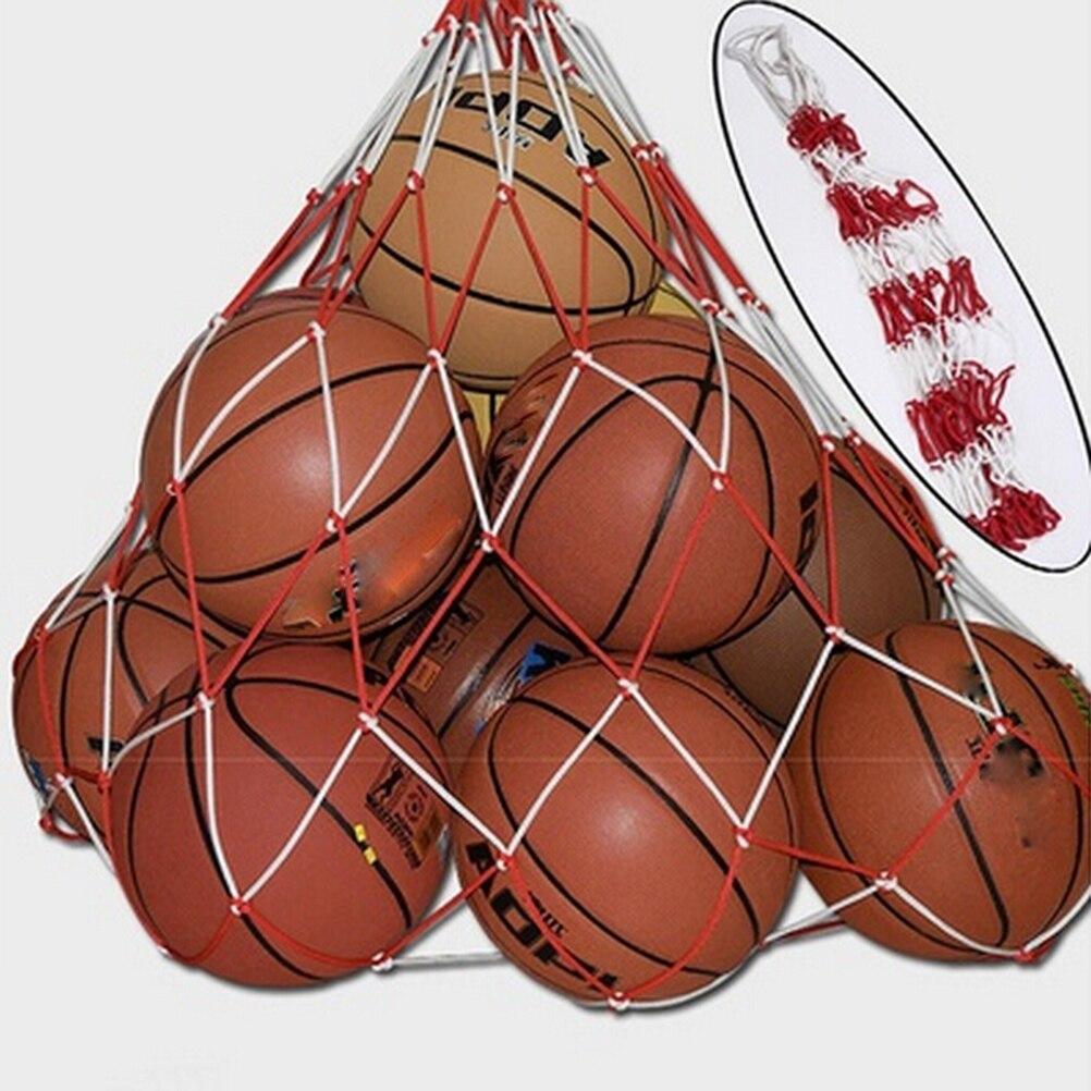 Сетчатая Сумка для переноски, Сетчатая Сумка Для Переноски 10 мячей, портативная спортивная сумка для спорта, баскетбола, волейбола, 1 шт.-1
