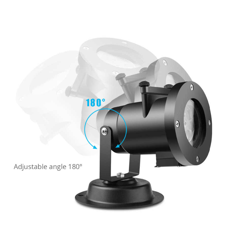12 моделей светодиодный газон свет снежинка проектор водонепроницаемый садовый светильник праздничные украшения для свадьбы и дня рождения освещение + адаптер питания