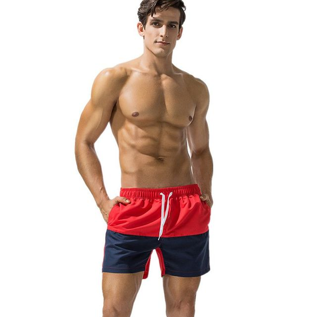 Funfeliz Boxer Swimwear for Men Fast Dry Swimming Trunks 2018 Male Swimming Shorts Beach Boardshorts Boys Swimsuit M-2XL