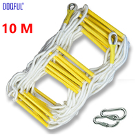 10 m Redding Touw Ladder 33FT Escape Ladder Emergency Werk Veiligheid Reactie Fire Rescue Rock Klimmen Escape Boom Outdoor Beschermen