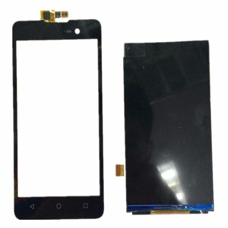 imágenes para Negro de Alta Calidad Frente Reemplazo Sensor Panel de Pantalla Táctil Digitalizador Lente de Cristal + LCD Para Wiko Lenny 2