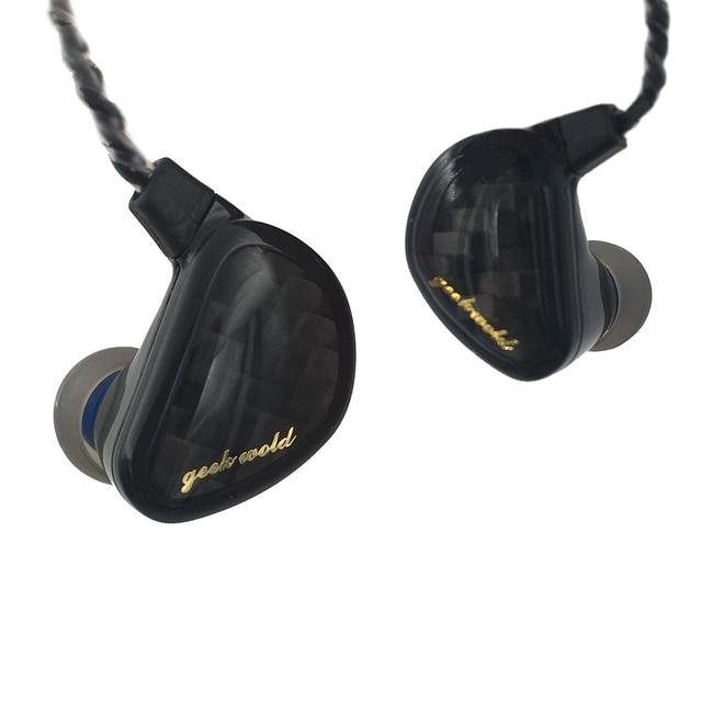 Geek Wold GK3 3 Triple Dynamic Driver HIFI In Ear Earphones With Silicone Earplugs for Audiophile IEMs