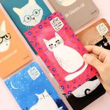 Adorable Cats Foreign Language Words Learning Notebook Vocabulary Mini Notebook Notepad School Supply Escolar Papelaria