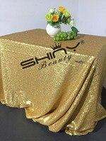 48x72inch Rectangle Matt Dark Gold Sequin Tablecloth Elegant Sequin Table Linens For Wedding A