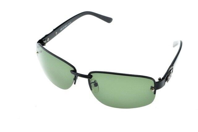 Rectangle RIMLESS Polarized Light double bridge sunglasses UV400 polaroid polarised sport driving Outdoor designer sun glasses