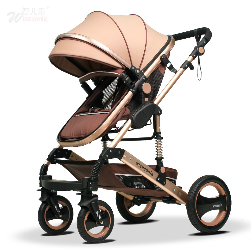 Baby Stroller 3 In 1 With Car Seat For Newborn Ultra Lightweight Trolley Folding Can Sit Lie Fold Umbrella Four Seasons