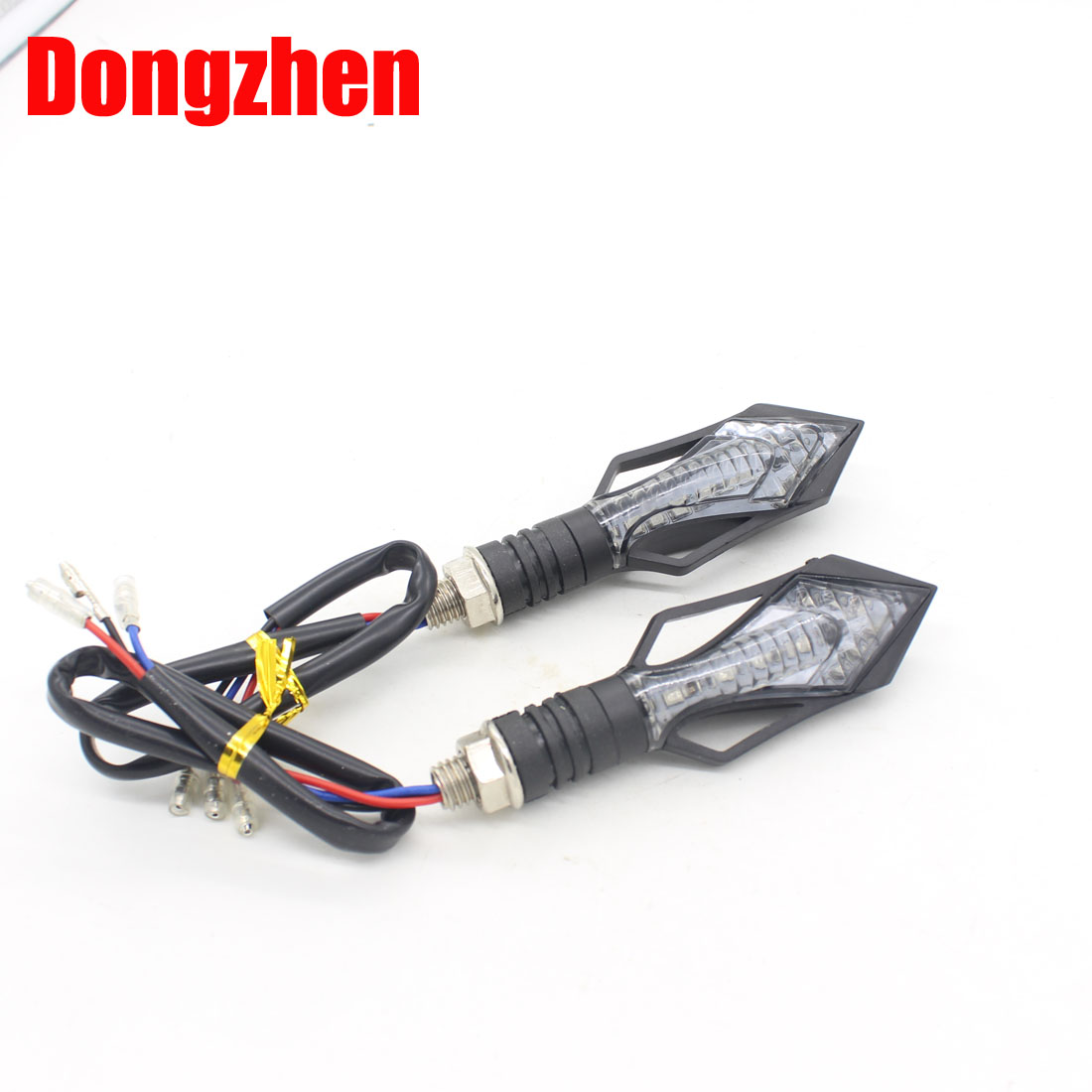 Dongzhen Universal Motorcycle LED Turn Signal Indicator Amber Light Fit For Suzuki Bandit 600 Honda CBR Kawasaki Ninja 2pcs high quality 7 pin turn signal flasher relay fr led indicator gsxr bandit 600 750 1200 gsx 1400 fits suzuki ca199