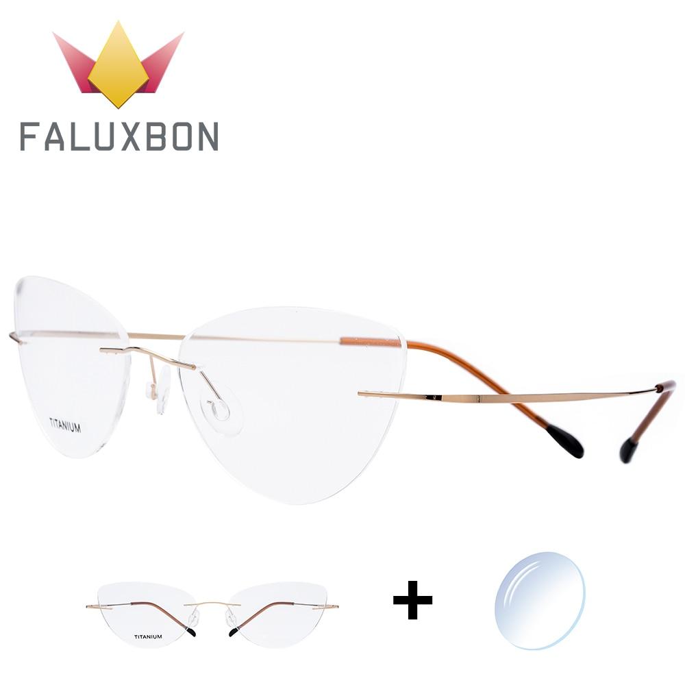 Initiative Cat Eye Randlose Brillen Frauen Titan Legierung Schraubenlose Ultraleicht Myopie Brillen 2019 Weibliche Optischen Brillen Gute Begleiter FüR Kinder Sowie Erwachsene Damenbrillen