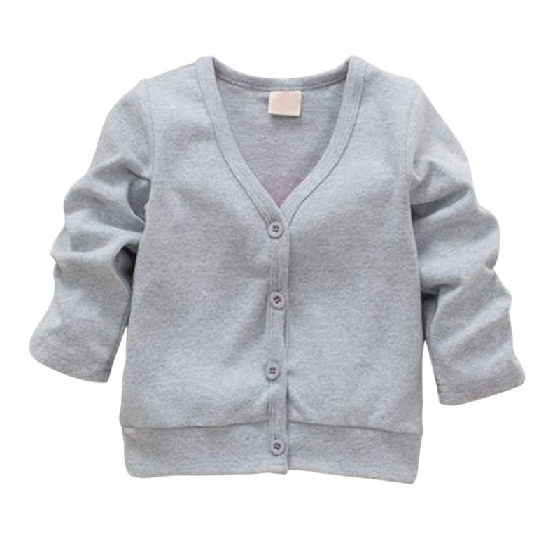 Child Boys Girls V-neck Cardigan Thick Kids Baby Cotton Jacket Coat Casual Comfortable Outwear mens v neck button up cardigan