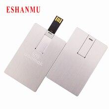 Eshanmu заказной алюминиевый для визитной карточки, usb-флешки флеш-накопитель Memory Stick 16 Гб с пластиковой коробкой