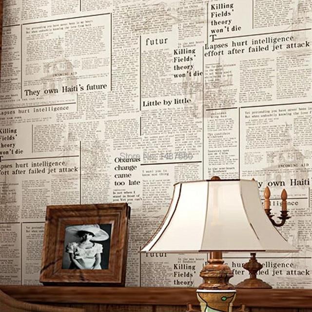 Beibehang Amerikanisches Englisch Zeitung Retro Nostalgie Tapete Papel De Parede 3D Schlafzimmer Wohnzimmer Papier Wandbild