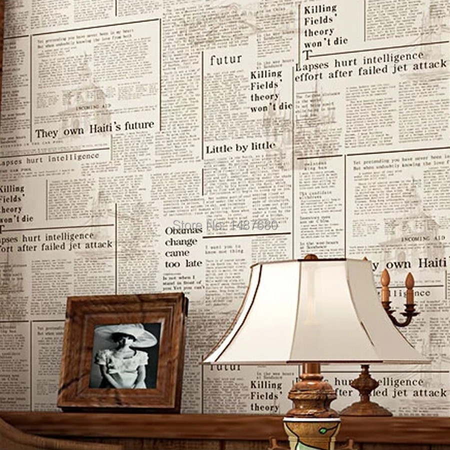 beibehang American English newspaper retro nostalgia wallpaper papel de parede 3D wallpaper bedroom living room paper wall mural beibehang blue retro nostalgia wallpaper for walls 3d modern wallpaper living room papel de parede 3d wall paper for bedroom