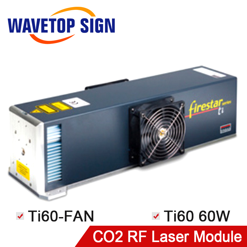 WaveTopSign CO2 RF Synrad 60W Ti60 Fan Laser Tube Metal CO2 Laser Tube 60W