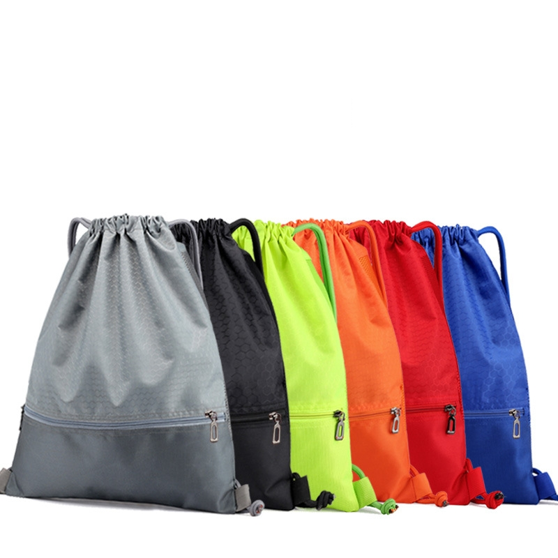 Outdoor Folding Sports Bag Drawstring Waterproof Nylon Climbing Backpack Men&Women Fitness Leisure Travel Lightweight Bag 20-30L