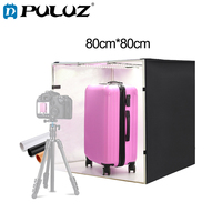 PULUZ Photo Tent 80cm Foldable Portable White Light Photo Lightbox Studio Shooting Tent Box+3 Backgrounds Tabletop Shooting