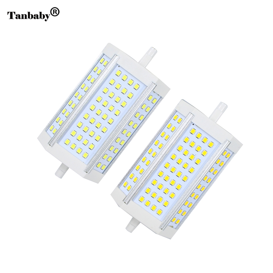 Tanbaby R7S 30W 118mm SMD2835 72LED Light Bulb Lamp Non-Dimmable LED Spotlight Corn Light Bulb Lamp AC85-265V r7s 15w 5050 smd led white light spotlight project lamp ac 85 265v
