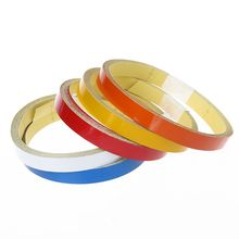1 Roll Reflective Tape Bicycle Safety Sticker Warning Bike Colorful Decoration Adhesives Cycling Supplies Accessories