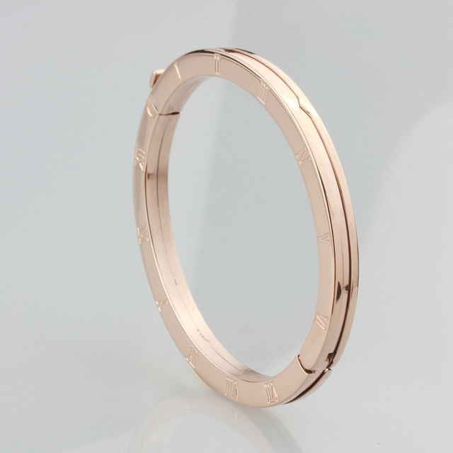 WLB0223 stainless steel women bangle.white gold roman numeral fashion bangels good quality rose gold jewelry for lady,party ring 4