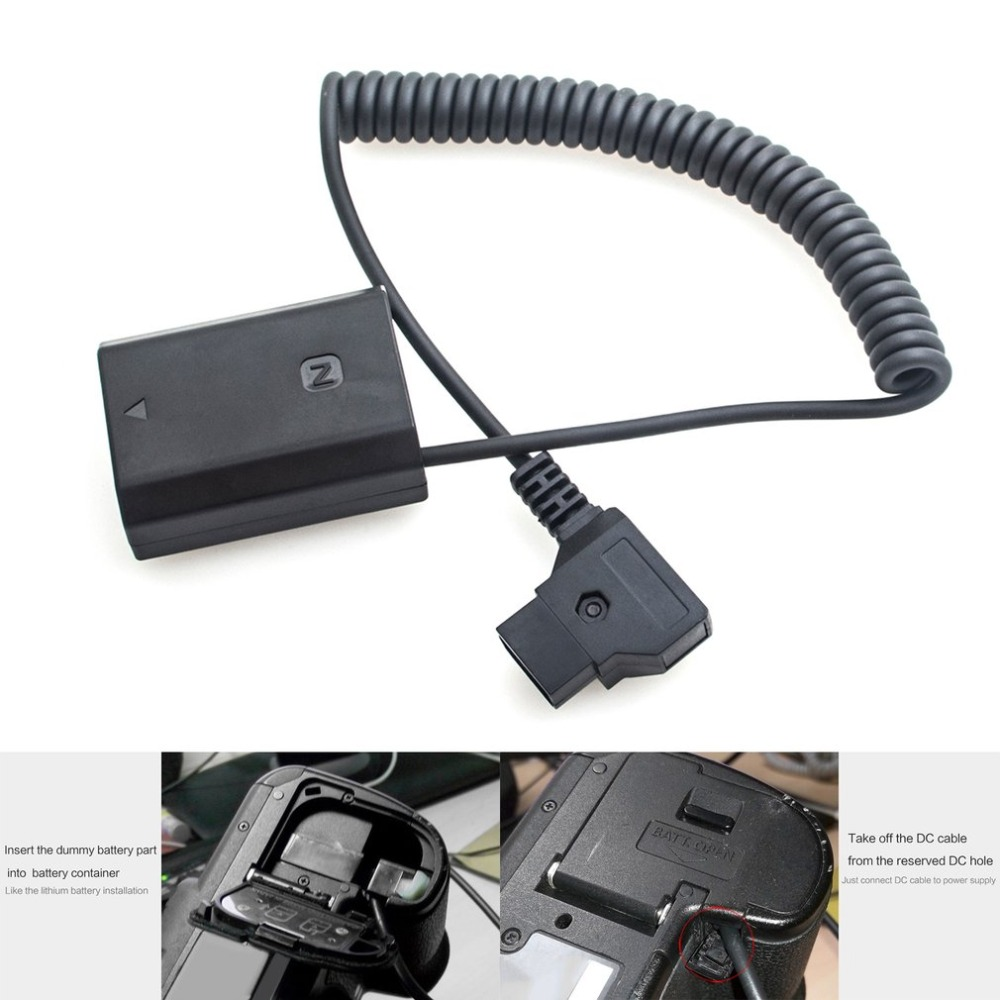 Power Adapter V-mount Anton Bauer D-Tap to NP-FZ100 Battery Coupler Spring Cable Power Supply and Accessories for Sony Camera(China)