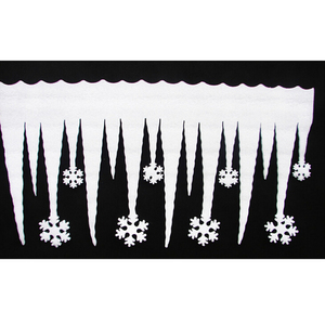 2 teile/los Schaum Eis Streifen Eiszapfen Schneeflocke Anhänger Dekorationen Frohe Weihnachten Ornamente Schnee Navidad Natal Dekor für Wand Weiß