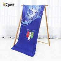 Zipsoft大型ビーチタオルfooballオリンピックバスタオル大人ナプキンプラージュスポーツヨガマットマイクロファイバー圧縮毛布2018