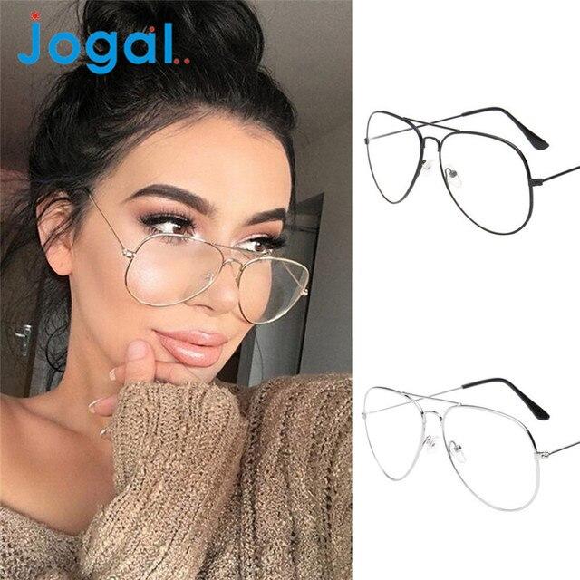 Jogal Coolbeener Men Women Clear Lens Glasses Metal Spectacle Frame Myopia  Eyeglasses Lunette Femme Glasses mar31 6f66fc328d27