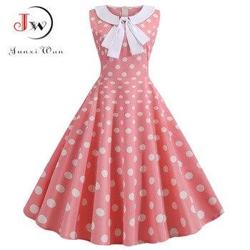 De talla grande Polka Dot vestido Vintage vestido de verano de las...