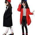 big little girls coats and jackets spring 2016 long sleeve red black long blazer suit jackets girl jackets girls outerwear coats