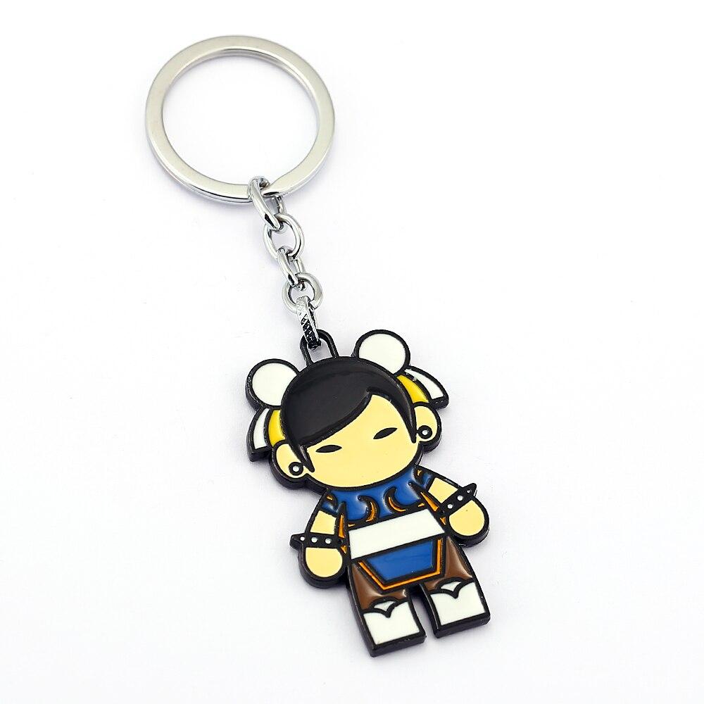 Street Fighter Key Chain Chun-Li Key Rings For Gift Chaveiro Car Keychain Jewelry Game Key Holder Souvenir YS11872