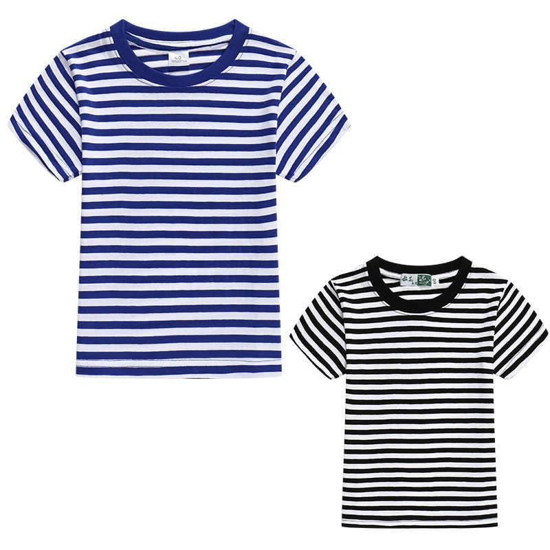 ฤดูร้อนเสื้อยืดครอบครัวเสื้อผ้ากะลาสีลาย Dad ลูกชาย T เสื้อครอบครัวดูชุดพ่อแม่ลูกสาวการจับคู่ชุดเสื้อผ้า