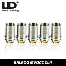 5ชิ้น/แพ็คUD BALROG MVOCCหัว0.15ohm 0.5ohm 1.8ohmขดลวดเครื่องฉีดน้ำบุหรี่อิเล็กทรอนิกส์หัวสำหรับUD BALROG OCC Vaporizerถัง