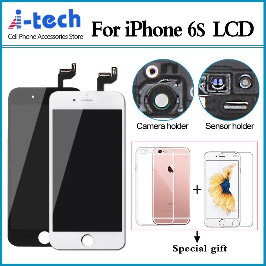 imágenes para Genuino aaa + + 5 unids/lote para iphone 6s estrenar pantalla lcd con reemplazo de la pantalla táctil 3d fuerza envío gratis