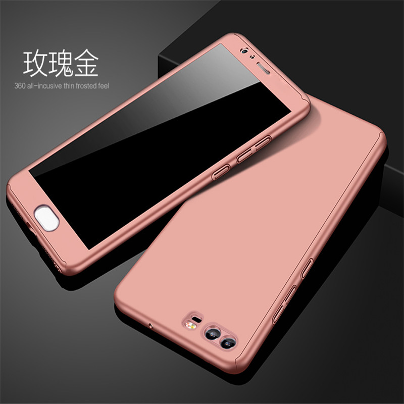 360 Degree Protect For Case Huawei P10 Case With Glass For Huawei Funda P8 Lite Case For Cover Huawei P9 Lite Cases Fitted