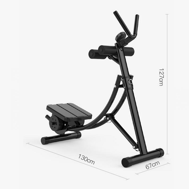 Dispositivo Abdominal plegable, carga de entrenador de abdominales con estructura de acero de 30 libras, equipo de entrenamiento de cintura con forma de pliegue compacto - 5