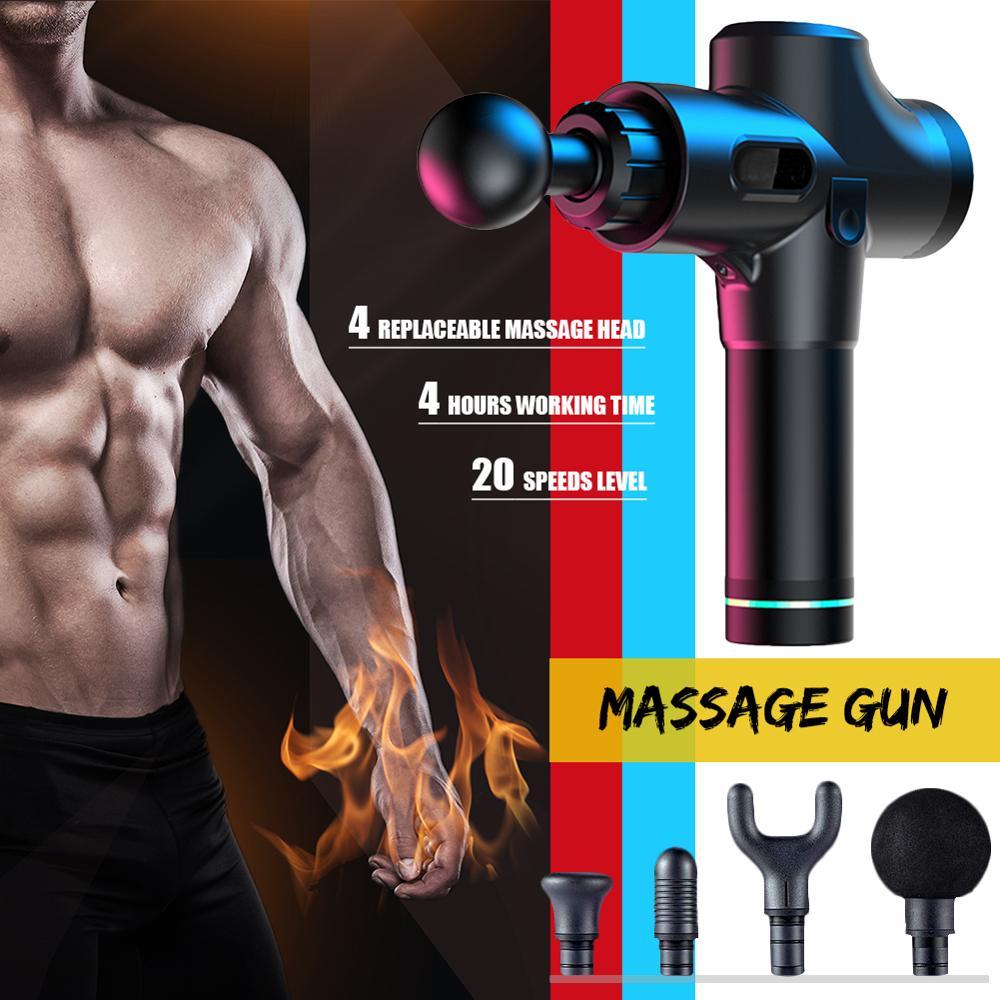 ORICSSON пистолет для массажа мышц высокочастотный Вибрационный массажер стимулятор мышц фитнес-упражнения облегчение боли массаж тела