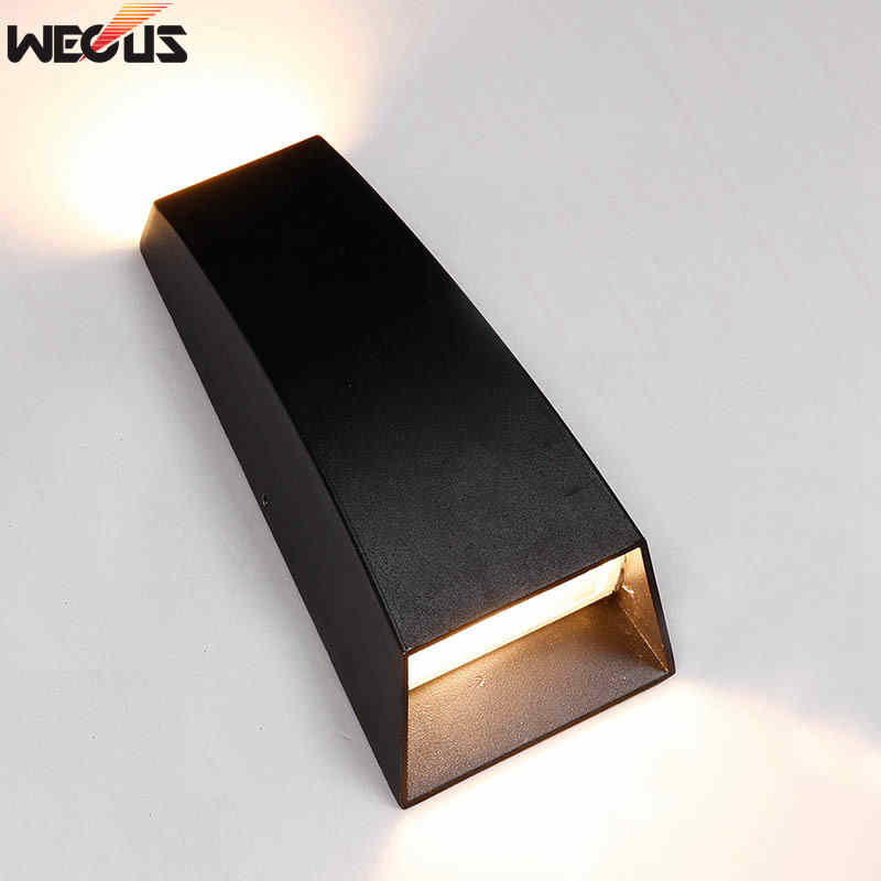 (WECUS) Outdoor Waterproof IP55 Lampă de perete 6W LED Lampă de perete Modern Interior / Outdoor Decor Up Down Dual-Head Aluminiu Lampă de perete