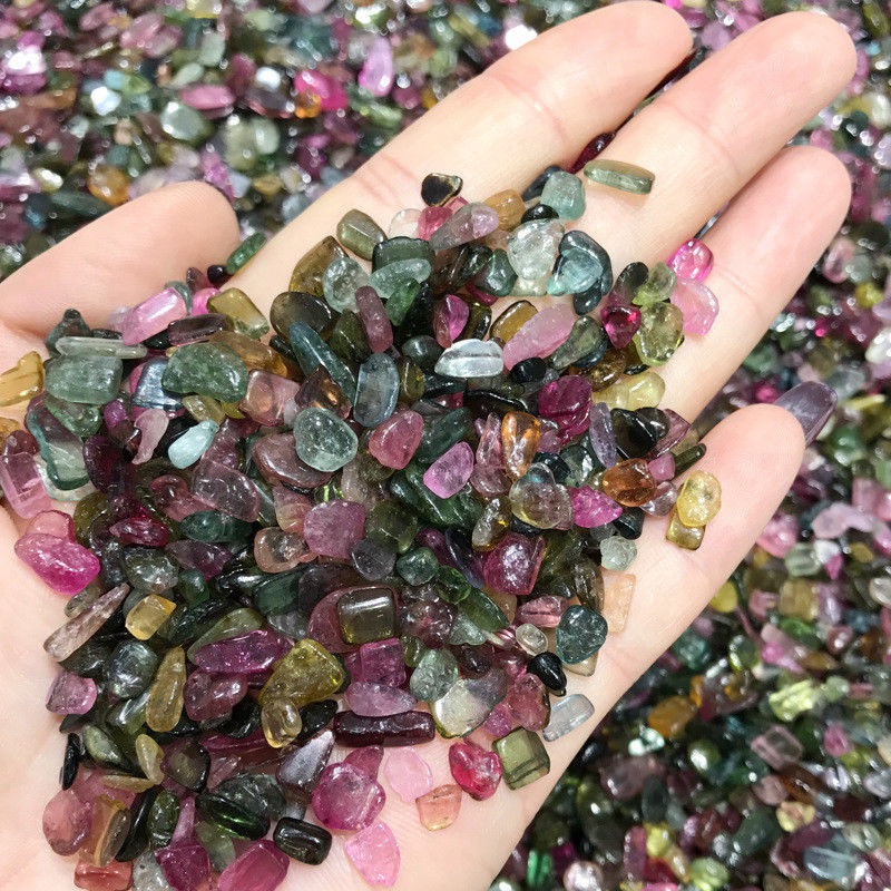 Wholesale 50g High Quality Natural Colourful Tourmaline Gravel Stone Mineral Specimen C986 Natural Stones And Minerals
