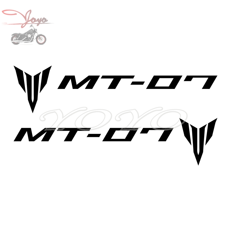 2 PCS Fuel Tank Decal Helmet Sticker Fairing Decals Fender Stickers Graphic For Yamaha MT07 MT-07