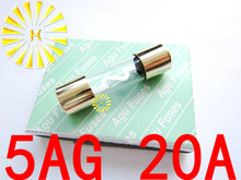 5AG 20A Fuse 10*38mm Gold Plated AGU Fuses For Car Audio x 50PCS