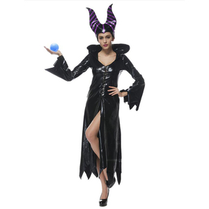 Image 2 - high quality Maleficent costume PU Movie Maleficent cosplay Costumes Adlut sexy halloween Costumes for Women Party fancy dress