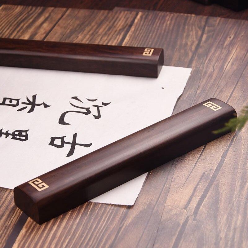 Presse-papiers en bois de santal de qualité fournitures de peinture et d'écriture chinoises pour artiste peinture calligraphie presse-papiers fournitures d'art - 2