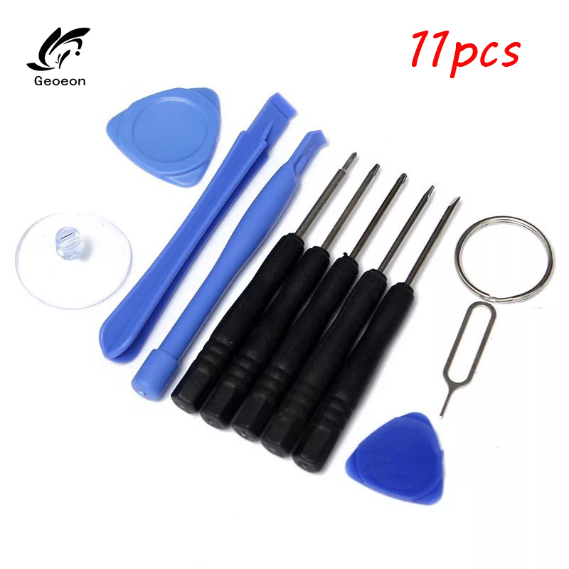 Geoeon 11 in 1 Opening Tools Disassemble Kit for iPhone 4 4s 5 5s 6 6s Smart Mobile Phone Repair Screwdriver Set D48