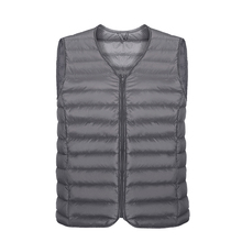 Men White Duck Down Vest Ultralight Sleeveless zipper Jacket 2019 Winter New Fashion style male Large Size Loose